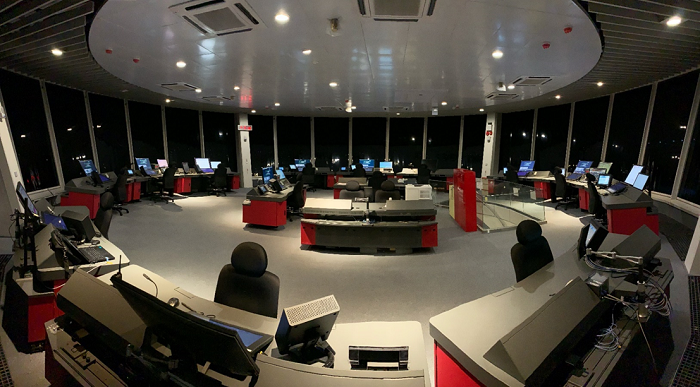 TAS in Tower control room